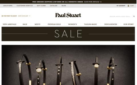 Screenshot of Home Page paulstuart.com - Paul Stuart - Fine Men's & Women's clothing - captured Dec. 25, 2015