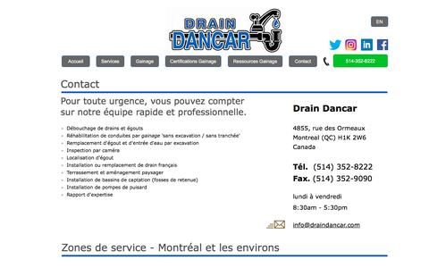 Screenshot of Privacy Page Contact Page draindancar.com - Contact Drain Dancar - captured July 10, 2018