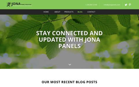 Screenshot of Blog jonapanels.com - Blog - Jona Panel Sales Inc. - Jona Panel Sales Inc. - captured Oct. 14, 2018