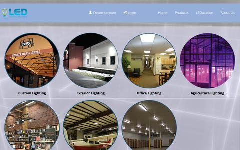 Screenshot of Products Page ledlightingcolorado.com - Products By Category - captured Sept. 25, 2018