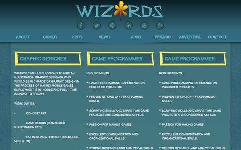 Screenshot of Jobs Page wizards.rs - Wizards Time D.O.O. Nis   Jobs - captured Oct. 7, 2014