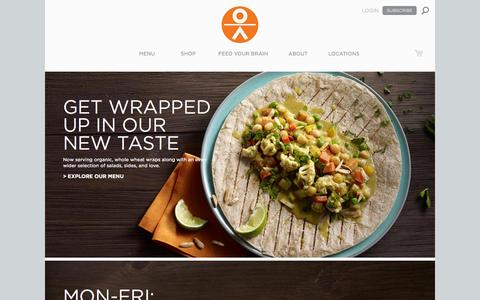 Screenshot of Home Page organicavenue.com - Organic Avenue -  Organic Juices & Foods - captured Sept. 17, 2014