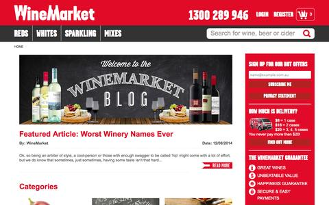 Screenshot of Blog winemarket.com.au - WineMarket Blog | Wine Blog - captured Sept. 25, 2014