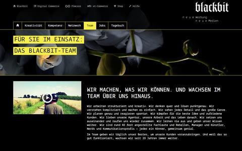Screenshot of Team Page blackbit.de - Blackbit Team für Werbung, Marketing und E-Commerce - captured Nov. 22, 2016