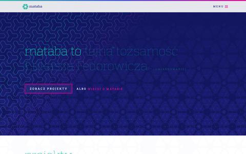 Screenshot of Home Page mataba.pl - mataba · graficzny warsztat rzemieślniczy - captured Oct. 12, 2015