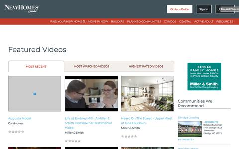 Videos of New Homes in MD, VA, WV & DC - New Homes Guide