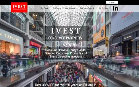 Screenshot of Home Page ivestconsumer.com - Consumer Private Equity Capital Branded Retail & Licensing Investors - captured Dec. 10, 2018