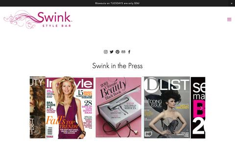 Screenshot of Press Page swinkstylebar.com - Press — Swink Style Bar - captured Dec. 11, 2018