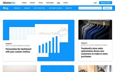 Screenshot of Blog stitcherads.com - Blog | StitcherAds - captured April 20, 2018