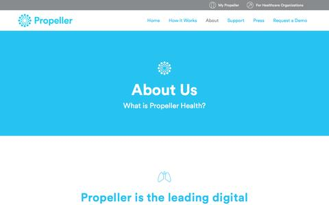 Screenshot of About Page propellerhealth.com - Propeller Health   Advisors and Team - captured July 3, 2016