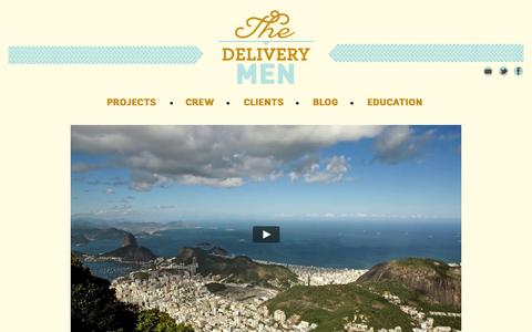 Screenshot of Home Page the-delivery-men.com - The Delivery Men - captured Jan. 28, 2015