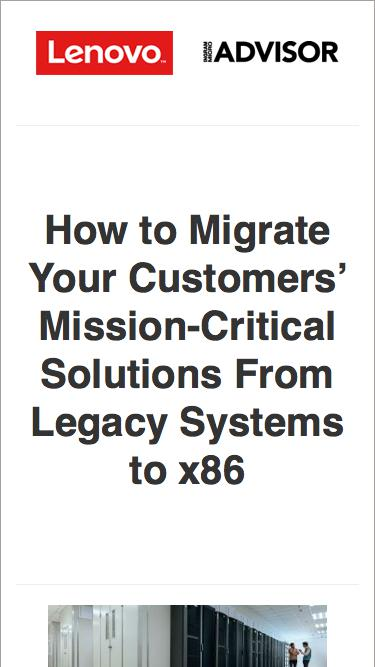 Free Planning Guide: Migrating Mission-Critical Solutions to x86 Architecture