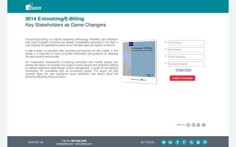 2014 E-Invoicing/E-Billing | Esker