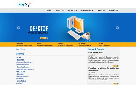 Screenshot of Site Map Page ifensys.com - iFenSys Software Solutions Pvt. Ltd | Sitemap - captured Oct. 6, 2014