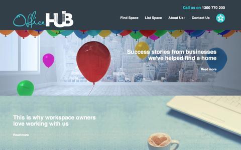 Screenshot of Testimonials Page office-hub.com.au - Testimonials - captured Feb. 16, 2016
