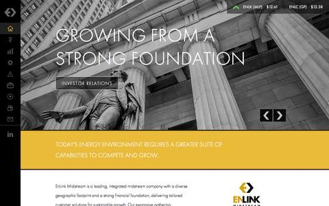 Screenshot of Home Page enlink.com - EnLink Midstream - Connecting Energy to Life - Strong. Innovative. Growing. - captured Jan. 29, 2016
