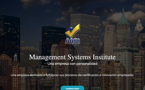 Screenshot of Blog msiisos.com - Management Systems Institute - Inicio - captured Oct. 2, 2018