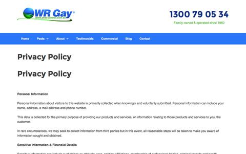 Privacy Policy -