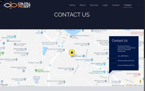 Screenshot of Contact Page coastalprosoft.com - CONTACT US - coastalprosoft - captured Sept. 28, 2018