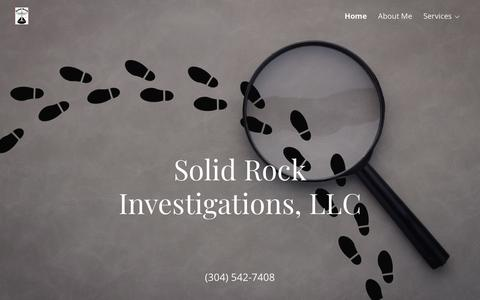Screenshot of Home Page solidrockinvestigations.com - Rock Solid Investigations - Private Investigator, Process Service - captured Oct. 19, 2018