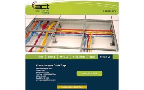Screenshot of Contact Page accesscabletrays.com - Contact Access Cable Trays - captured Feb. 5, 2016