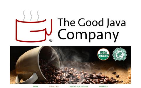 Screenshot of About Page thegoodjava.com - About Us — The Good Java Company - captured Oct. 18, 2018