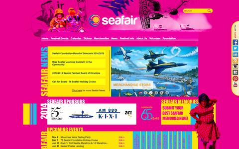 Screenshot of Press Page seafair.com - Seafair - captured Nov. 2, 2014