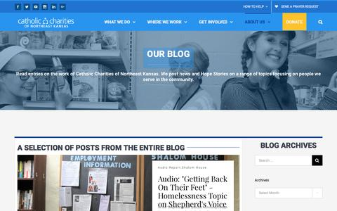 Screenshot of Press Page catholiccharitiesks.org - Our Blog - Catholic Charities of Northeast Kansas - captured Oct. 28, 2016