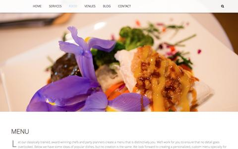 Screenshot of Menu Page theabbeycatering.com - The Abbey Catering & Event Design Co. Menu - The Abbey Catering & Event Design Co. - captured Dec. 22, 2016