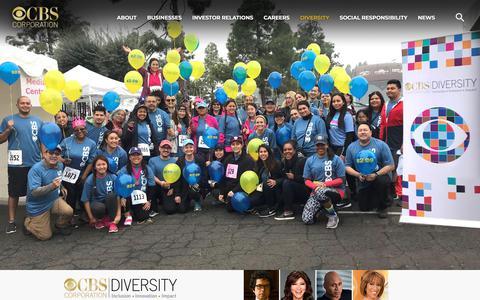 Screenshot of Team Page cbscorporation.com - Diversity – CBS Corporation - captured May 15, 2018