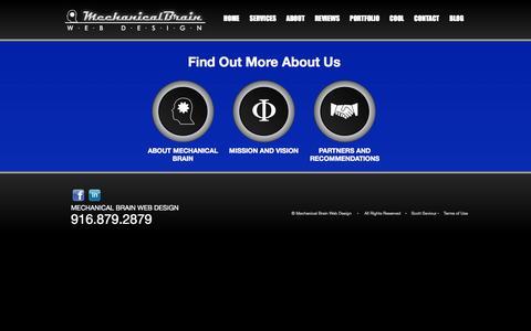Screenshot of About Page mechanicalbrain.com - Mechanical Brain - Sacramento Web Design | Scott Seviour | Web Design | SEO | Blog Creation | E Commerce | Internet Help - captured Oct. 27, 2014