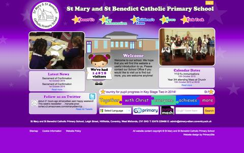 Screenshot of Home Page stmary-stben.coventry.sch.uk - Home | St Mary and St Benedict Catholic Primary School - captured Oct. 10, 2015