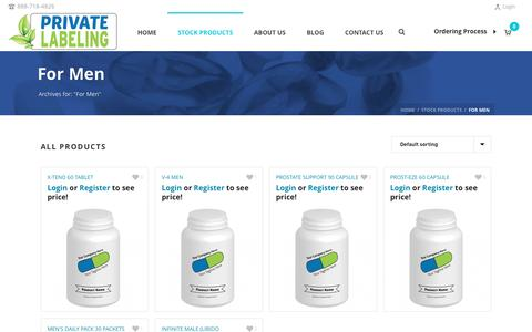For Men Archives - Private Label Supplements and Vitamins