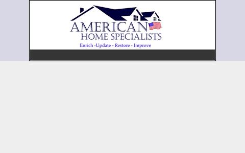 Screenshot of Testimonials Page americanhomespecialists.com - Testimonials - American Home Specialists - captured Dec. 25, 2015