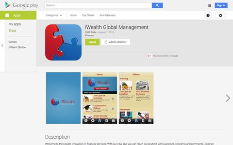 Screenshot of Android App Page google.com - iWealth Global Management - Android Apps on Google Play - captured Nov. 3, 2014