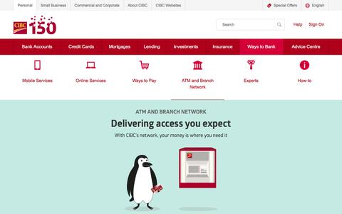ATM and Branch Network | CIBC
