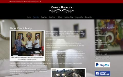 Screenshot of About Page kandirealty.com - About Us | Kandi Realty - captured April 1, 2016