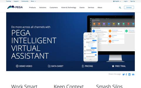 Intelligent Virtual Assistant, Powered by AI | Pega