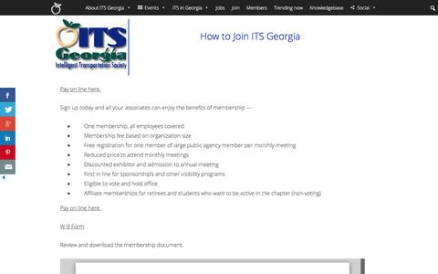 Screenshot of Signup Page itsga.org - Join | Intelligent Transportation Society of Georgia - captured Nov. 26, 2016