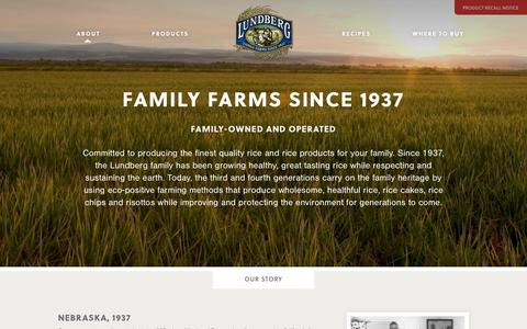 Screenshot of About Page lundberg.com - About | Lundberg Family Farms - captured Oct. 31, 2014