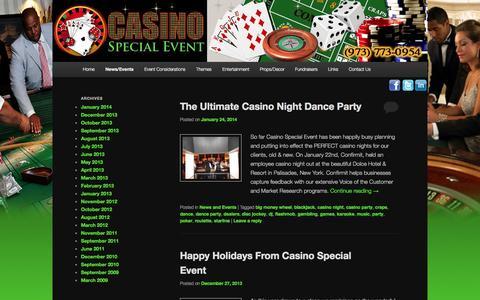 Screenshot of Blog casinospecialevent.com - Blog | Casino Special EventCasino Special Event | Call For Your Free Quote : 1-973-773-0954 - captured Sept. 29, 2014