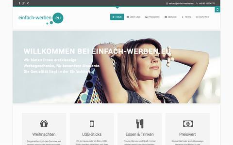 Screenshot of Home Page einfach-werben.eu - Werbegeschenke bei einfach-werben.eu - einfach-werben.eu - captured Sept. 25, 2014