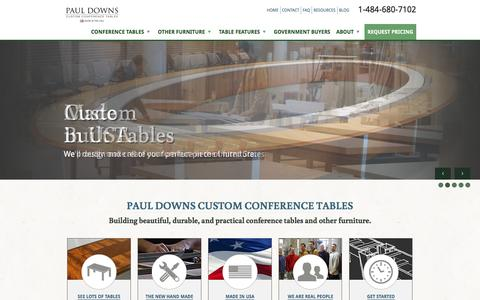 Screenshot of Home Page custom-conference-tables.com - Custom Conference Table | Custom Boardroom Table | Large Conference Table - captured Oct. 25, 2016
