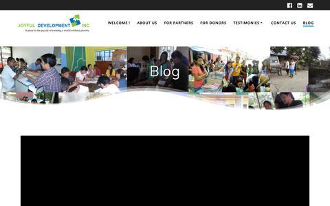 Screenshot of Blog joyfuldev.org - Blog – Joyful Development Inc. - captured Oct. 14, 2018