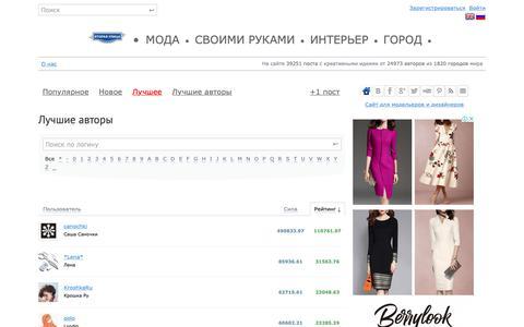 Screenshot of Team Page secondstreet.ru - Лучшие авторы / ВТОРАЯ УЛИЦА - captured Nov. 17, 2018