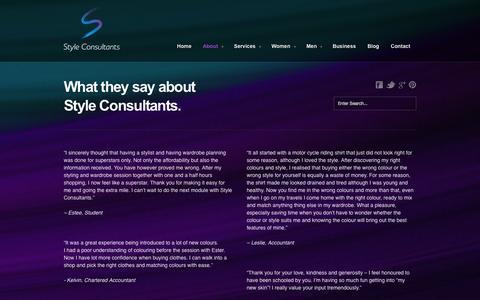 Screenshot of Testimonials Page styleconsultants.co.nz - Style Consultants Testimonials » Style Consultants - captured Oct. 9, 2014