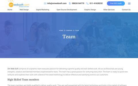 Screenshot of Team Page omwebsoft.com - Team Om Web Technologies:: Website Designing Firm, Web development Firm, SEO Company Firm in Delhi, India - captured Oct. 20, 2018