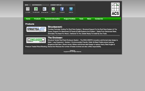 Screenshot of Products Page acs-reps.com - Products |ACS Reps - captured Oct. 4, 2014