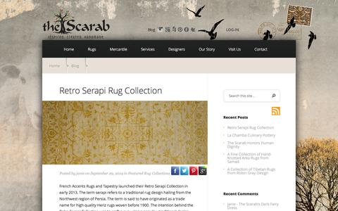 Screenshot of Blog thescarab.com - News and Blog from The Scarab   Rugs, Interior Design, Artisans and Travel - captured Sept. 30, 2014