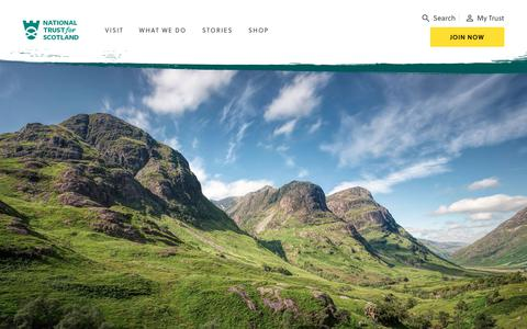 Screenshot of Home Page nts.org.uk - Homepage | National Trust for Scotland - captured Oct. 20, 2018